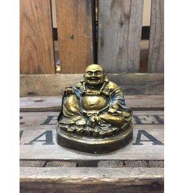 W.F. Peters Zittende happy Buddha (goud-blauw)