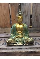 W.F. Peters Buddha lotus houding (goud groen)-