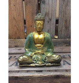 W.F. Peters Buddha lotus houding (goud-groen)