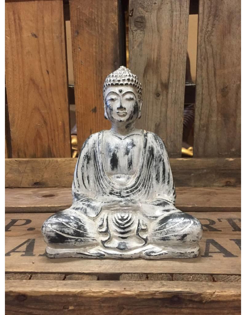 W.F. Peters Buddha lotus houding (wit antiek)