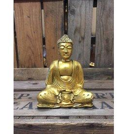 W.F. Peters Buddha lotus houding (goud)