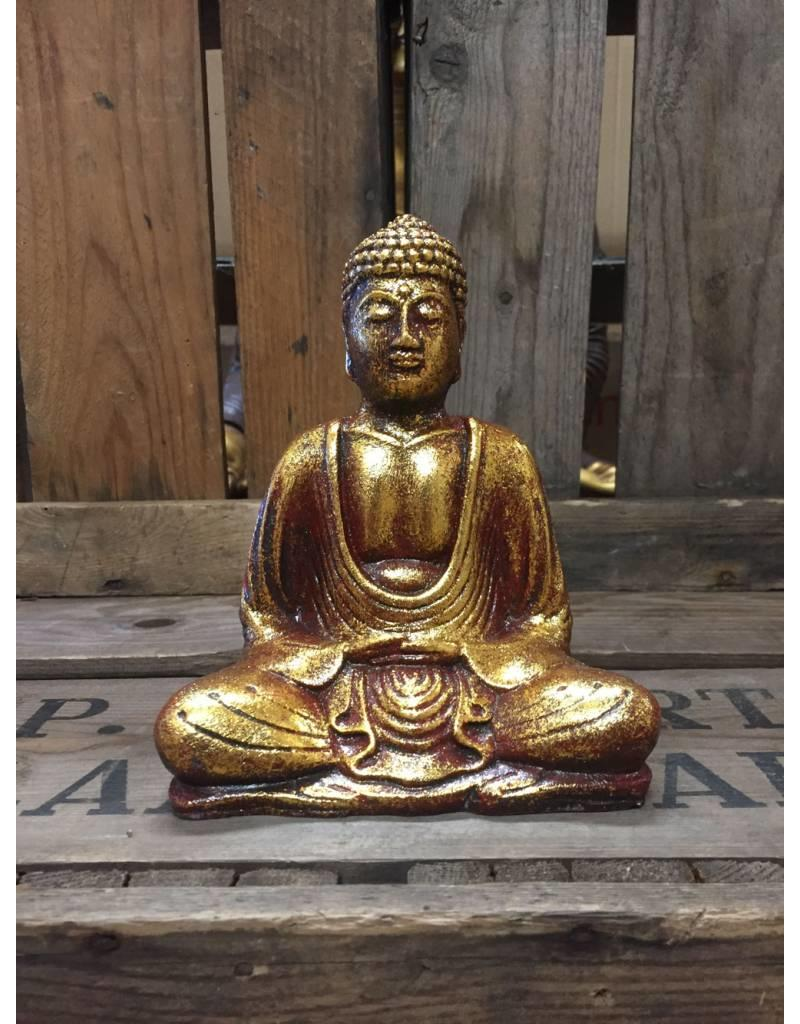 W.F. Peters Buddha lotus houding (goud-rood)