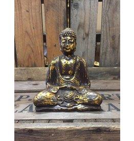 W.F. Peters Buddha lotus houding (goud antiek bewerkt)