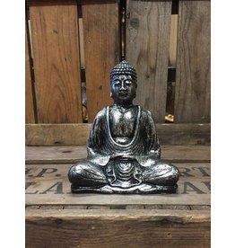 W.F. Peters Buddha lotus houding (antiek zilver)