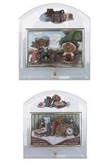 H.Originals Beer glas schilderij 18 X 17 CM 2 assortiment