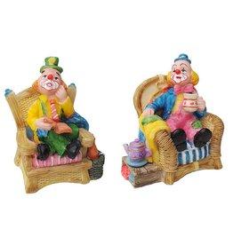 H.Originals Clown op stoel 10 X 8 CM 2 assortiment