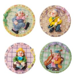H.Originals Bordjes Clown 10 X 10 CM 4 assortiment