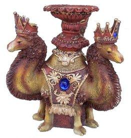 H.Originals Drie kamelen kandelaar 23 X 17 CM 1 assortiment