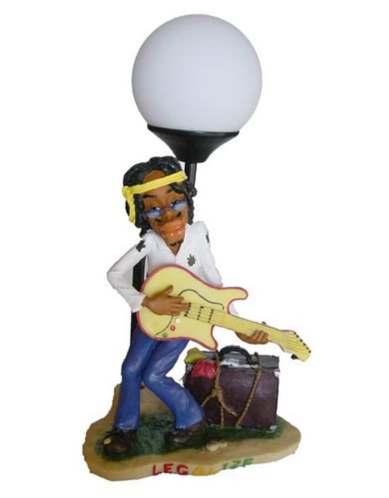 H.Originals Rastaman lamp met gitaar en koffer 35 X  CM 1 assortiment
