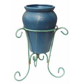 H.Originals Vaas Met metaal blauw 35 X 22 CM 1 assortiment