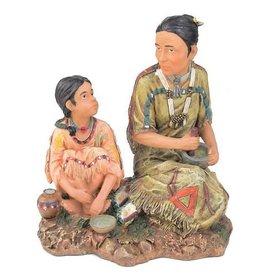 H.Originals Oud indiaan vrouwtje met kind 30 X  CM 1 assortiment