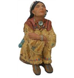H.Originals Indiaan vrouw zittend 24 X  CM 1 assortiment