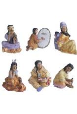 H.Originals Indiaan zitten 9 X 7 CM 6 assortiment