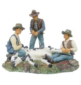 H.Originals Cowboys met koe 18 X 22 CM 1 assortiment