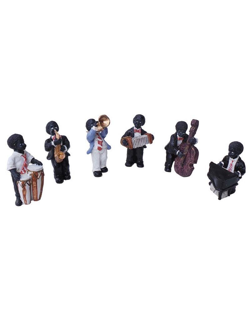 H.Originals Jazz orkerst 6 delig 9 X 4 CM 6 assortiment