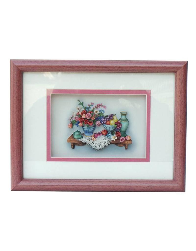H.Originals Bloemen schilderij roze 21 X 28 CM 1 assortiment