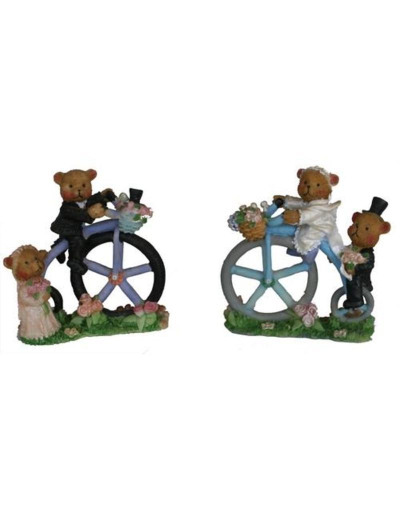 H.Originals Bruidsbeer op fiets 9 X 3 CM 2 assortiment