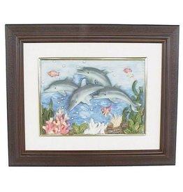 H.Originals Dolfijn schilderij 30 X 25 CM 1 assortiment
