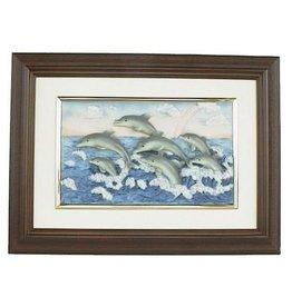 H.Originals Dolfijn schilderij 29 X 39 CM 1 assortiment