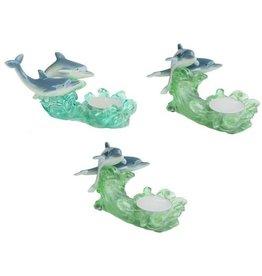 H.Originals Dolfijn met waxine 14 X 7 CM 3 assortiment