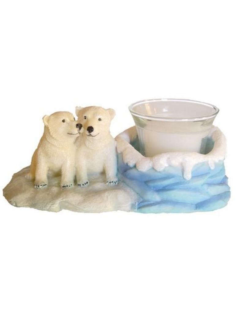 H.Originals Twee baby ijsbeer met waxine 20 X  CM 1 assortiment