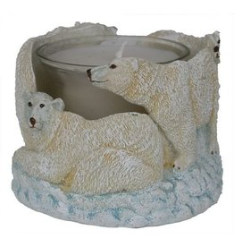 H.Originals Waxinehouder ijsbeer 7 X 7 CM 1 assortiment