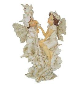 H.Originals Twee elfjes op bloem 14 X 12 CM 1 assortiment