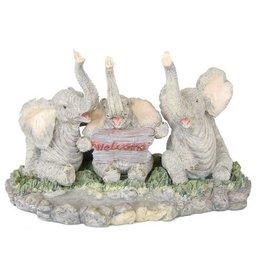 H.Originals Drie olifanten zittend 20 X  CM 1 assortiment
