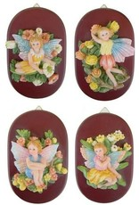 H.Originals Elfje op houten plakje 11 X 8 CM 4 assortiment
