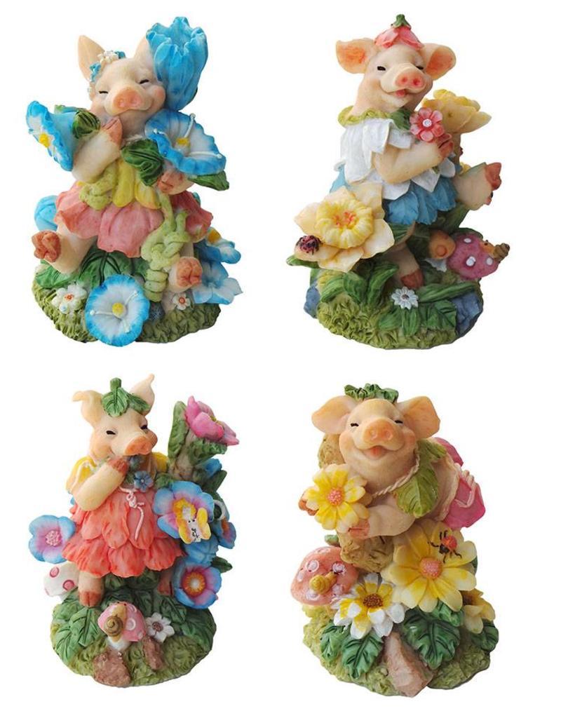 H.Originals Varken met bloem 10 X 8 CM 4 assortiment
