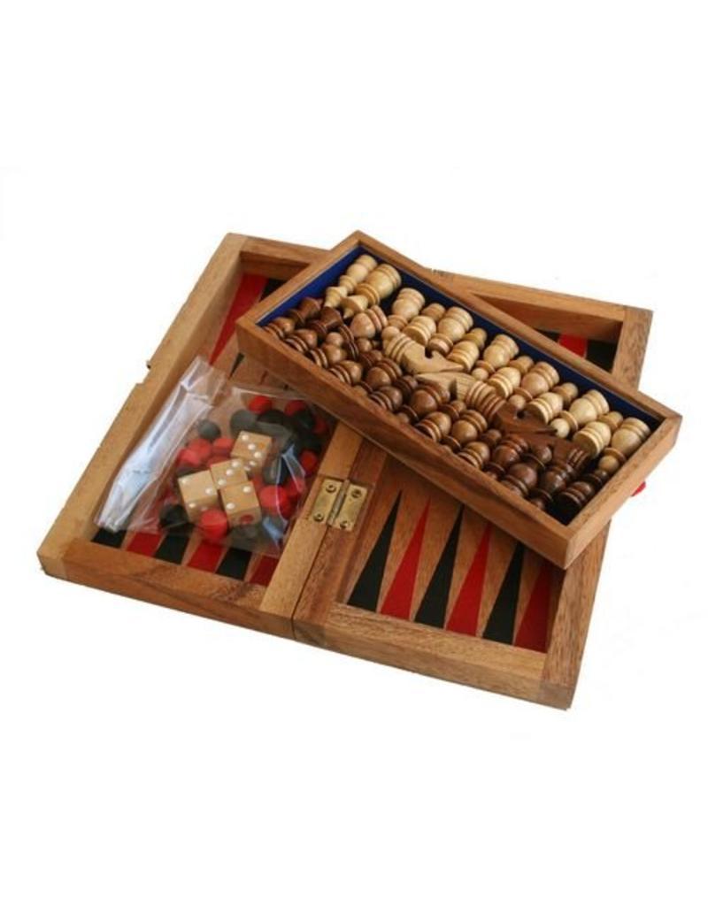 H.Originals Schaakset hout 22 X 10 CM 1 assortiment