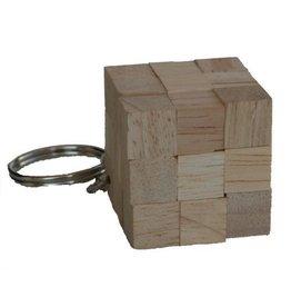 H.Originals Snake sleutelhanger hout 3 X 3 CM 1 assortiment