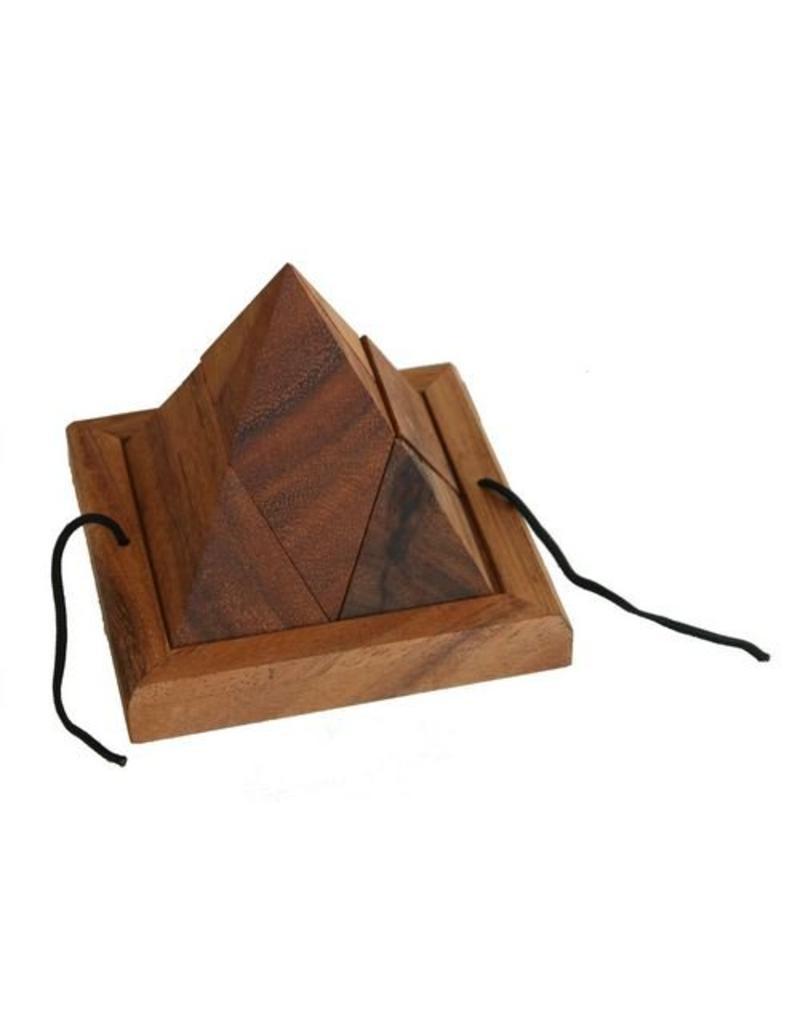 H.Originals Spelletje piramide hout 14 X 11 CM 1 assortiment