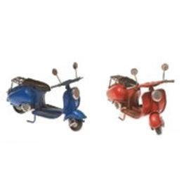 W.F. Peters Scooters blauw en rood 11,5 x 5,5 x 7,5 cm per set van 2