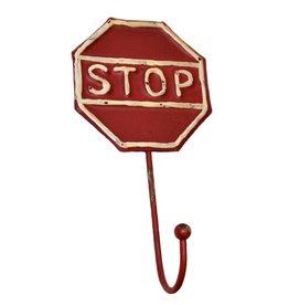W.F. Peters Metalen kapstokhaken Stop bord