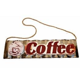 W.F. Peters Tin Sign Coffee (gestanst metaal)