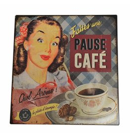 W.F. Peters Tin Sign ''Pause Cafe''