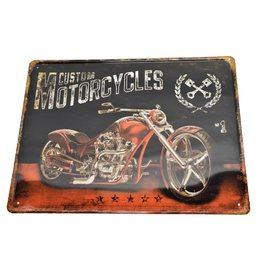 W.F. Peters Tin Sign ''Custom Motorcycle''