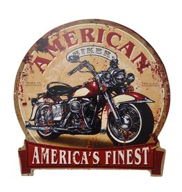 W.F. Peters Tin Sign ''Rond American Finest''