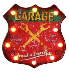 W.F. Peters Schild met verlichting Garage 35x30 cm