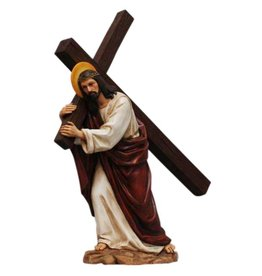 W.F. Peters Jezus draagt kruis, hg 32 cm