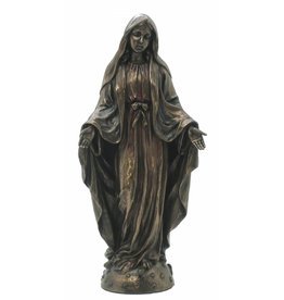 W.F. Peters Maria staand (brons kl) 9,5x6,5x21 cm