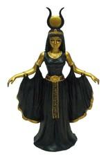 W.F. Peters Cleopatra staand  Zwart/goud hg 26 cm