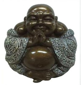 W.F. Peters Happy Buddha bronskl. hg 9 cm