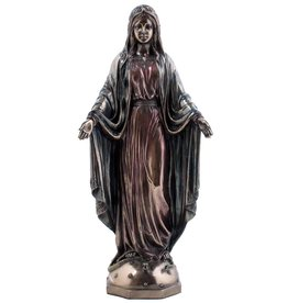 W.F. Peters Maria staand (brons kl) 11,5x8x26 cm