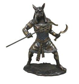 W.F. Peters Anubis staand hg 25 cm bronskleur