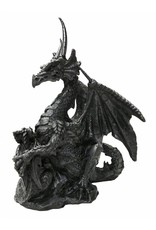 W.F. Peters Zwarte draak met baby hg ca 8 cm