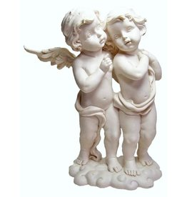 W.F. Peters Twee engelen staand op wolk