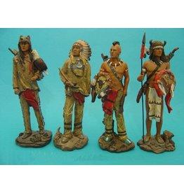 W.F. Peters indiaan  set van 4   hg 19  cm