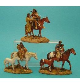 W.F. Peters Indiaan set van 3 assorti  11 cm